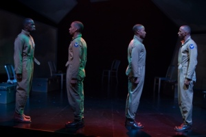 Terrell Donnell Sledge as J. Allen, Will Cobbs as Oscar, David Pegram as Chet Simpkins and Eddie R. Brown III as W.W. Photo by Jerry Naunheim, Jr. Repertory Theatre of St. Louis
