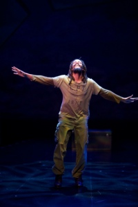 Omar Edwards as the Tap Griot Photo by Jerry Naunheim, Jr. Repertory Theatre of St. Louis