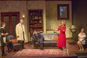 James Slover, Whit Reichert, Nathan Bush, Penney Kols, Betsy Bowman Photo by John Lamb St. Louis Actors' Studio