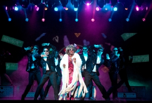 Carla R. Stewart (center) and ensemble Photo by Joan Marcus Ghost The Musical US Tour