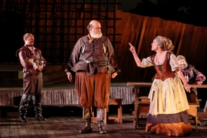 Jim Butz, Tony DeBruno, Kari Ely, Alex Miller Photo by David Levy Shakespeare Festival St. Louis