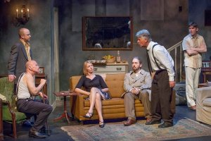 Charlie Barron, Peter Mayer, Missy Heinemann, Ben Ritchie, Larry Dell, Nathan Bush Photo by John Lamb St. Louis Actors' Studio