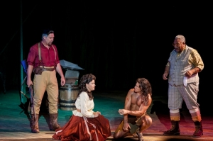 Michael James Reed, Kate   Rockwell, Nicholas Rodriguez, Ken Page Photo : The Muny