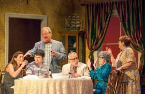 Ariel Roukaerts, Matt Pentecost, Tom Murray, Jerry Vogel, Tommy Nolan, Maggie Ryan Photo by John Lamb Insight Theatre Company