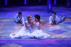 Jeffrey Omura, Gracyn Mix, Caroline Amos, Andy Rindlisbach Photo by Jerry Naunheim, Jr. Repertory Theatre of St. Louis