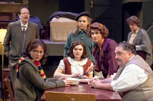 Cast of The Diary of Anne Frank Photo by John Lamb New Jewish Theatre