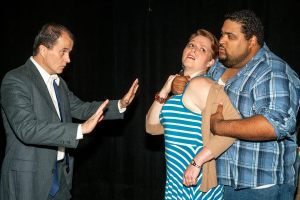 Matt Hanify, Beth Davis, Carl Overly Jr. Photo by John Lamb West End Players Guild