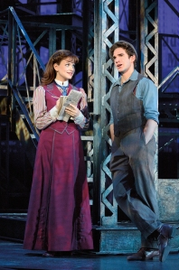 Stephanie Styles, Dan DeLuca Photo by Deen Van Meer Newsies the Musical