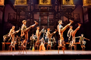 Cast of Newsies Photo by Deen Van Meer Newsies the Musical