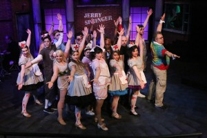 Cast of Jerry Springer The Opera Photo by Jill Ritter Lindberg New Line Thetre