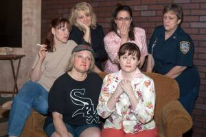 The Cast of The Odd Couple (Female Version) Photo by John Lamb Dramatic License Productions