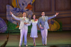 Noah Racey, Patti Murin, Colin Donnell Photo by Phillip Hamer The Muny