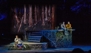 Elena Shaddow, Sara Kapner, Jason Gotay, Rob McClure Photo by Phillip Hamer The Muny