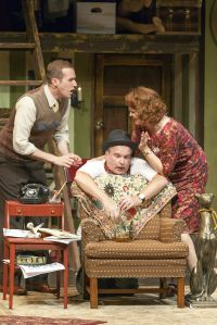 Will Bonfiglio, Alan Knoll, Jenni Ryan Photo by John Lamb Insight Theatre Company