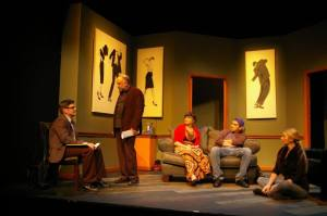Nathan Bush, John Pierson, Taylor Pietz, Jason Contini, Alicia Smith Photo by John Lamb St. Louis Actors' Studio
