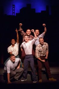 Cast of Dogfight Photo by John Lamb Stray Dog Theatre