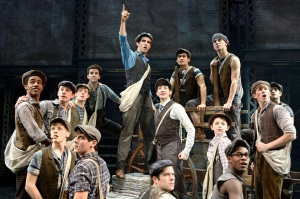 Joey Barreiro (center) and Cast Photo by Deen van Meer Newsies North American Tour