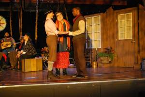 Cara Barresi, Katie Donnelly, Kevin Minor and cast Photo by Joey Rumpell Slightly Askew Theatre Ensemble