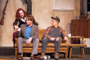 Sarajane Alverson, Jeff Kargus, Mark Abels Photo by John Lamb Stray Dog Theatre