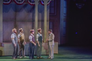 Joseph Torello, J.D. Daw, Ben Nordstrom, Adam Halpin, Hunter Foster Photo: The Muny