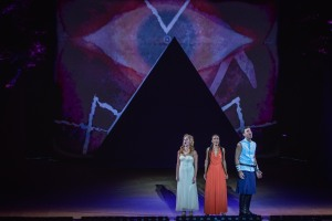 Taylor Louderman, Michelle Williams, Zak Resnick Photo: The Muny