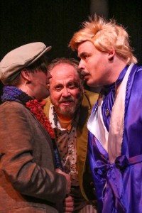 Sean Michael, Kent Coffel, Zachary Allen Farmer Photo by Jill Ritter Lindberg New Line Theatre