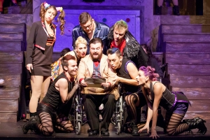 Cast of The Rocky Horror Show Photo by John Lamb Stray Dog Theatre