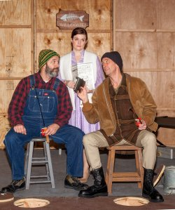Scott De Broux, Colleen Backer, Colin Nichols Photo by John Lamb West End Players Guild
